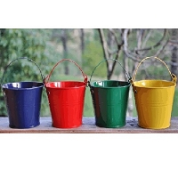 Mini Bright Tin Pails - 24ct