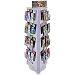 Pegboard Three-Sided Revolving Brochure Floor Display Kit