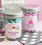 Personalized Kids Birthday Mini Glass Jars - 24ct
