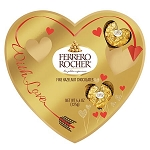 Rocher 10 Piece Heart Box  - 12ct