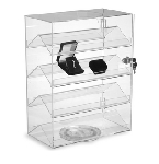 Rotating Acrylic Showcase With Lock