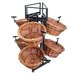 Round 6 Basket Willow Triangle Base Display