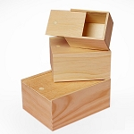 Slide Top 3pc Wooden Box Set - 6 Sets