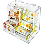 Acrylic Two Compartment Candy Dispenser w/Lift-Open Top