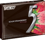 Wrigley 5 Sour Strawberry Flood Gum - 10ct