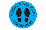 Social Distance Stand Here Vinyl Floor Decal - 10ct