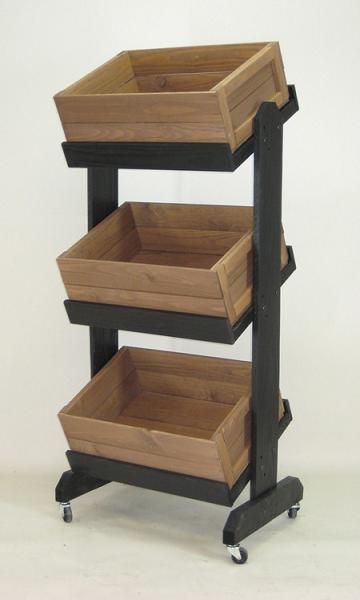 Tiered Crate Display Produce Display Wooden Display