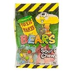 Toxic Waste Sour Gummy Bears Peg Bags - 12ct