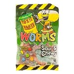 Toxic Waste Sour Gummy Worms Peg Bags - 12ct