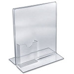 Two-Sided Sign Holder w/Tri-Fold Pocket 8.5x11 - 10ct