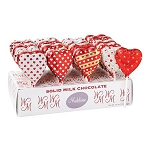 Chocolate Heart Pops - 24ct