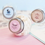 Classic Personalized Baby Shower Glass Candy Jars - 24ct