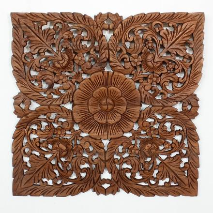 Teak Wood Panels Wooden Wall Displays Unique Hand Carved Art
