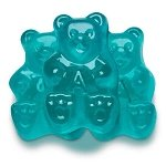 Light Blue Watermelon Gummi Bears - 5lbs