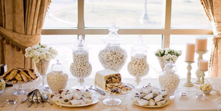 White Candy For Buffet