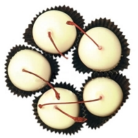 White Chocolate Stem Cherries - 3lb