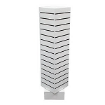 White Slatwall Rotating Tower