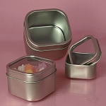 Windowed Square Tins - 12oz - 24ct
