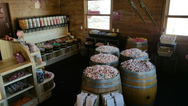 Wooden Barrel Displays can be found at Candy Concepts Inc