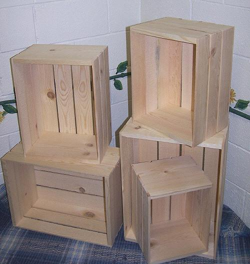 Wood Nesting Crates 5 Wood Crate Set Wooden Crates