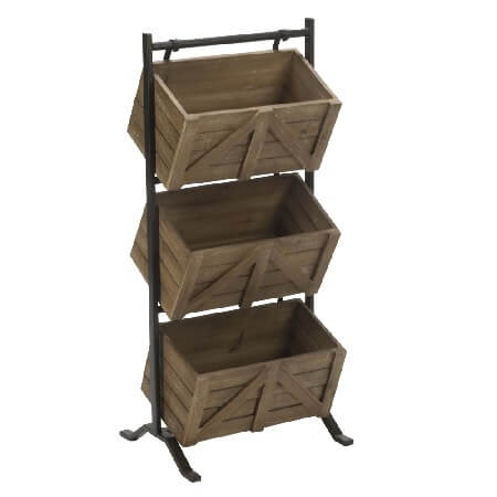 Wooden 3 Tier Crate Display Stand