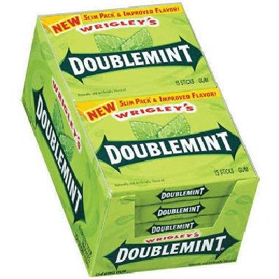 Wrigley Doublemint Gum - 10ct | Slim Pack | Impulse Candy