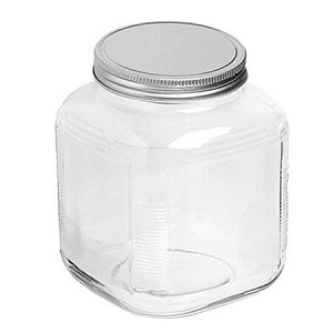 1 Gallon Cracker Jar w/Aluminum Lids - 4ct