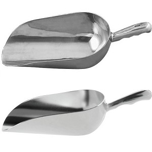 12 oz Aluminum Scoop - Groove Handle