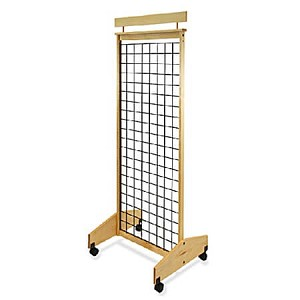 2-Sided Mobile Wood Gridwall Display -25 inch