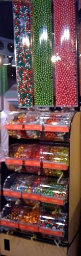 Queen Size Candy Display Rack w/ Divided Bins - 2 Foot