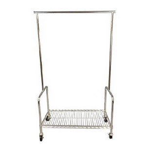 "36""L Rolling Rack w/Shelf"