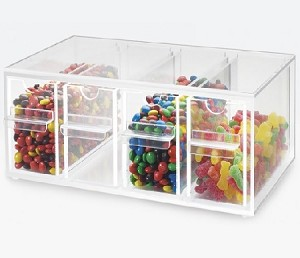 4 Drawer Yogurt Topping Dispenser