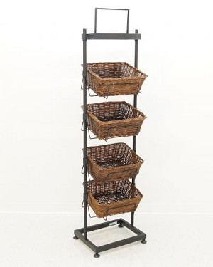 4-High Angled Basket Display