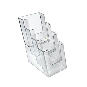 4-Tier Four Pocket Trifold Brochure Holder - 2ct