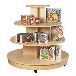 Maple 4 Tier Table With Casters Store Displays Tables