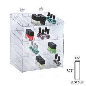 4 Tier 28 Compartment Cosmetic Display