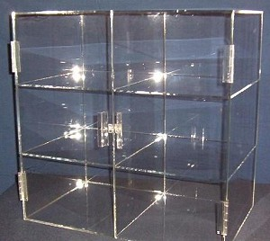 Acrylic Bakery Cabinet - 6 Compartment