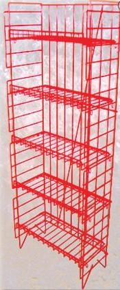 5 Adjustable Shelf Snack Rack - White