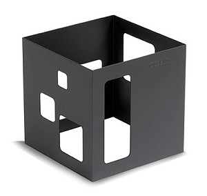 Black Steel Square Riser - 7""