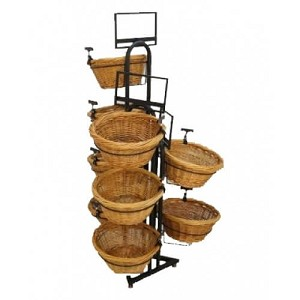 9 Willow Baskets Triangle Base Display