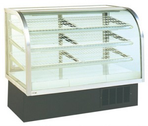 "Refrigerated Deli Case  - 48"" to 77"" Wide - Curved Front"