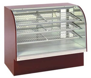 "Non-Refrigerated Curved Front Bakery Display - 48""H"