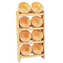 Wood Basket Display with 8 - 1/2 Peck Baskets