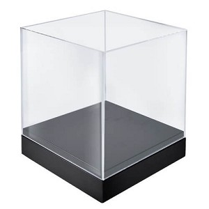 Acrylic Deluxe Clear Cube Showcase - 10""