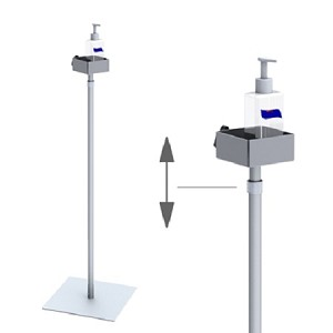 Hand Sanitizer Steel Stand With Adjustable Height