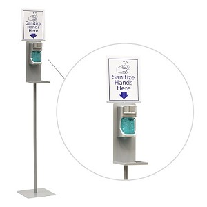 Automatic Hand Sanitizer Dispenser - Stand And Sign
