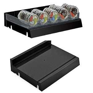 Black Modular Adjustable Cosmetic Tray - 2ct