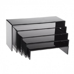 Black U-Shaped Acrylic Riser Set