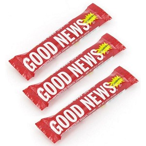 good news chocolate candy bars individually wrapped bars