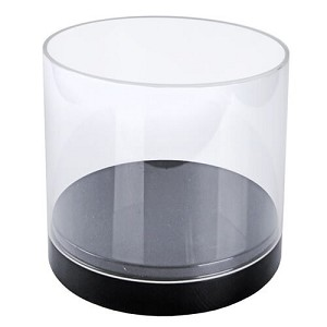 Clear Acrylic Deluxe Cylinder Showcase - 10""